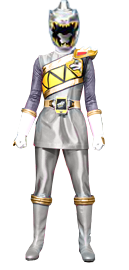 Dino Charge Silver Ranger (female) by Dishdude87
