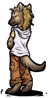 Hyena Chibi for Zaccy by Star-Rice