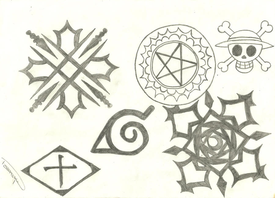 Anime Symbols By ShelleyAnderson