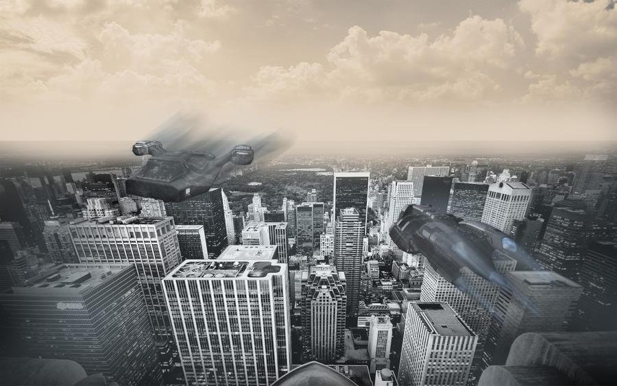 Futuristic City HD Wallpaper by yuppern
