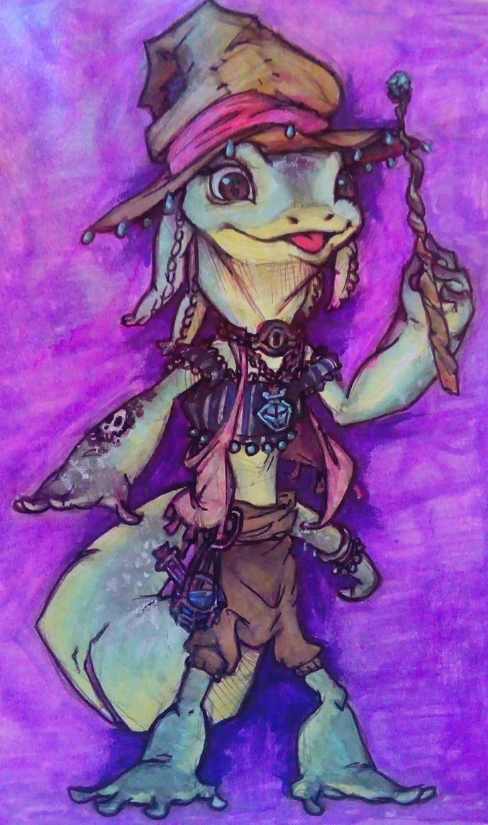 Weird anthro amphibian witch by Catnip1996