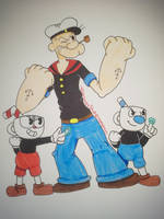 Strong To The Finish (Popeye 90th / Cuphead) by TessaLovesOzzy