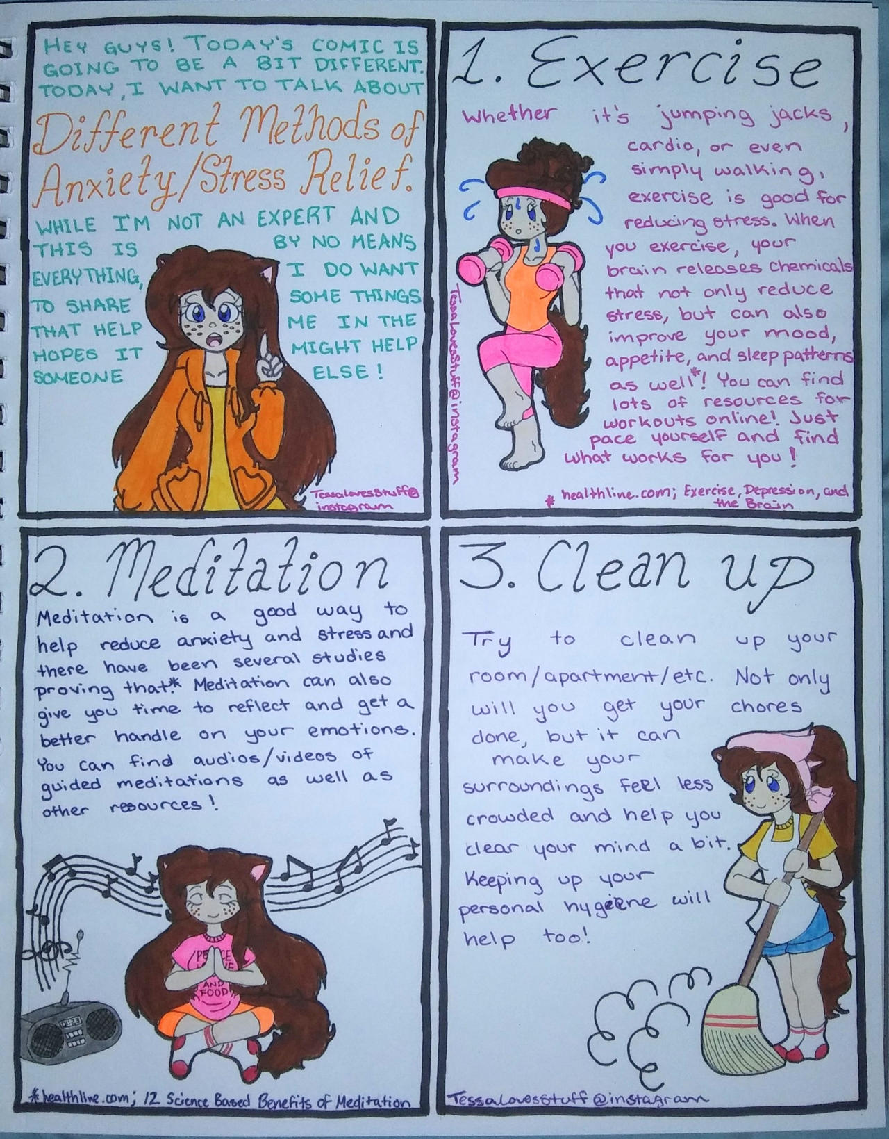 A Comic About Anxiety Stress Relief Part 1 Of 2 By Tessalovesozzy On Deviantart