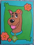 Scooby Doo Painting on a Wooden Plaque