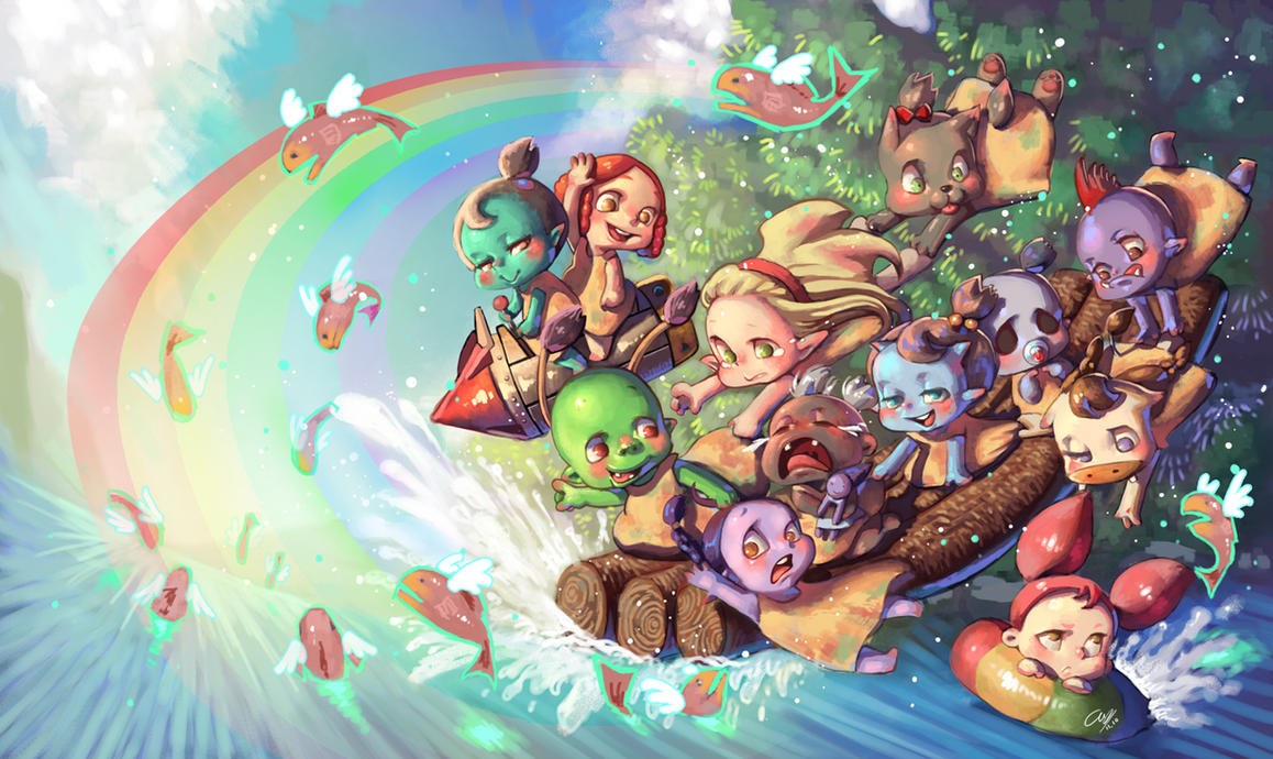 Wow summer girls by Angju