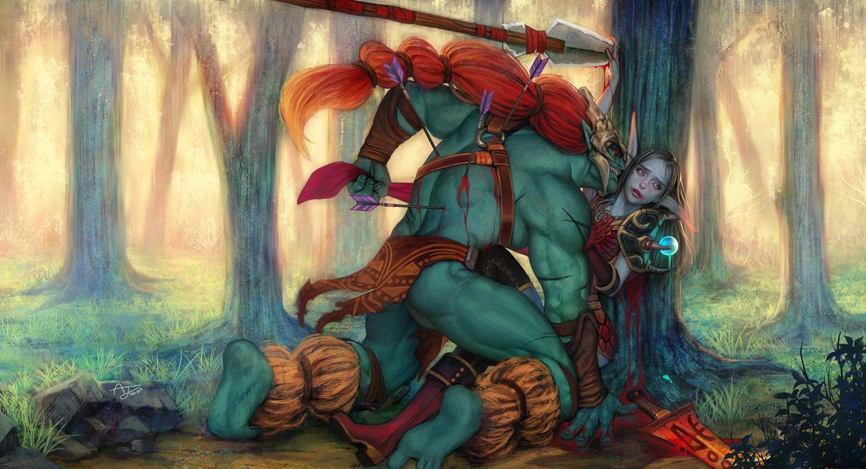 dota2 and wow fan art by angju on deviantart