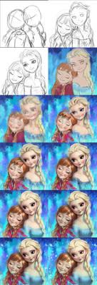 Frozen Elsa and Anna fan art Tutorials