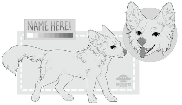 ( pay to use ) Bat-Eared Fox Lineart!