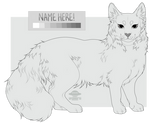 ( pay to use ) Maine Coon Cat Lineart!
