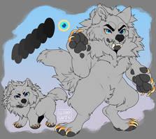 P2U - Chibi Dire Wolf Base by gloomyguts