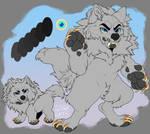 P2U - Chibi Dire Wolf Base