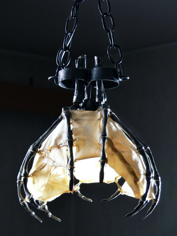 Skeletal Ceiling Light by Rajala