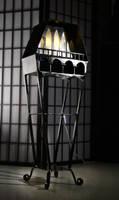 Coffin-Shaped Floor Lamp by Rajala