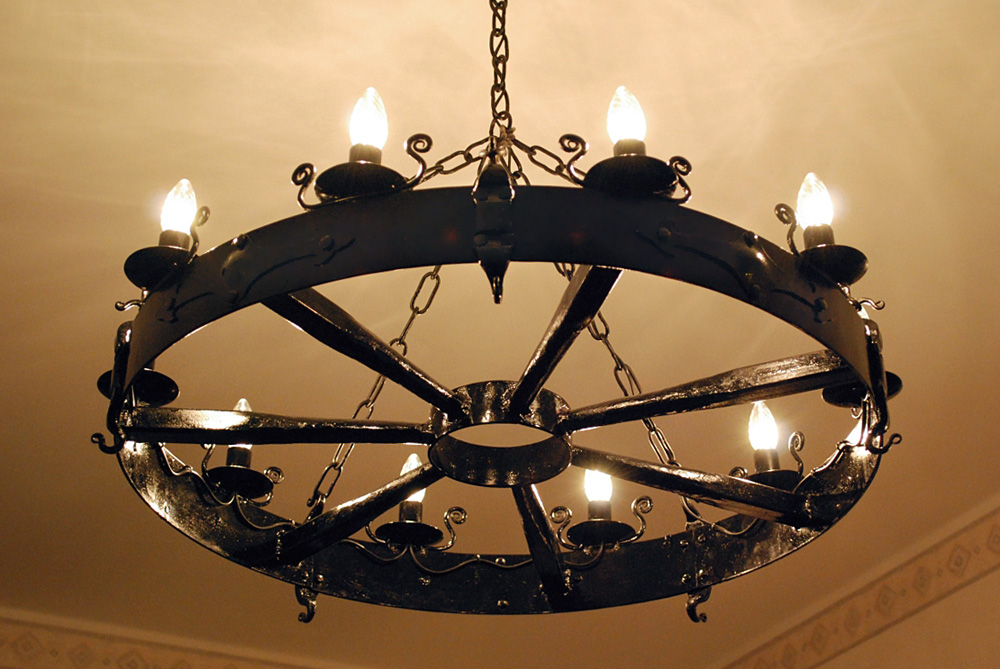 Iron chandelier by rajala on deviantart aloadofball Image collections