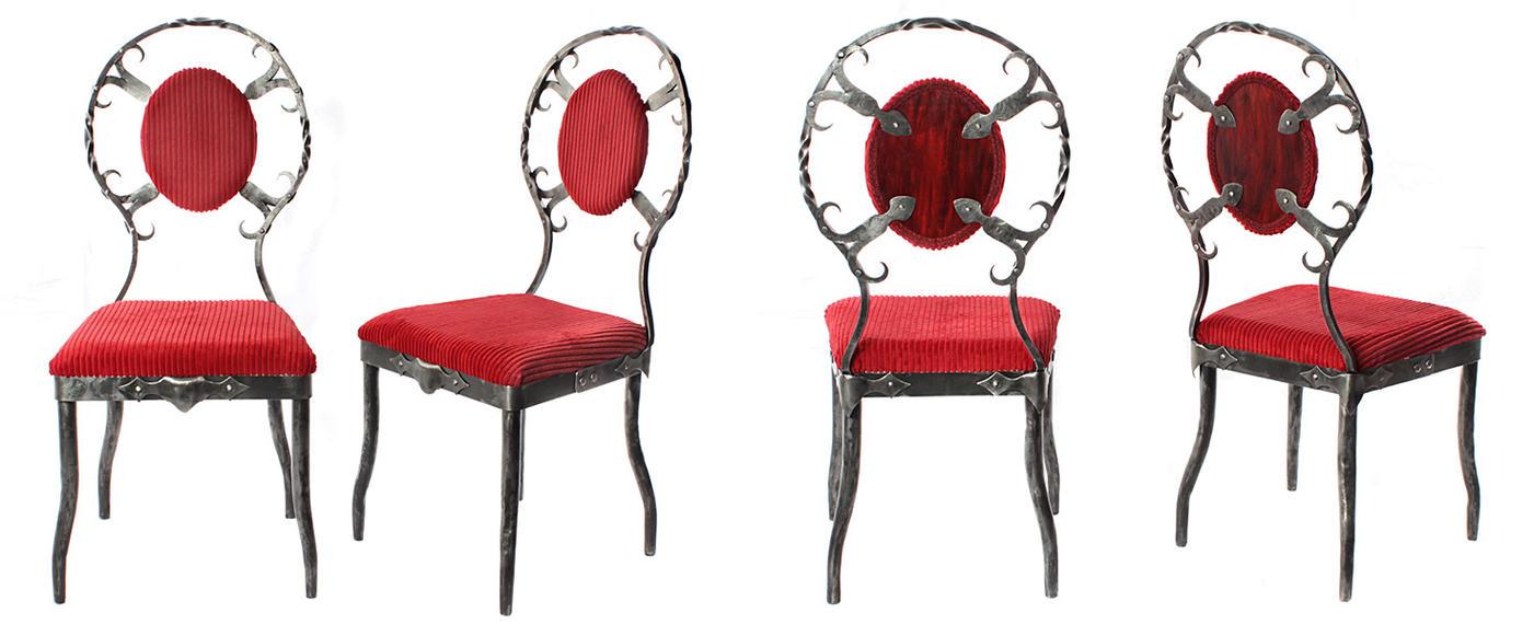Metal Chairs by Rajala