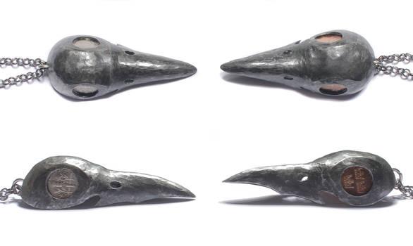 Raven Skull Pendants