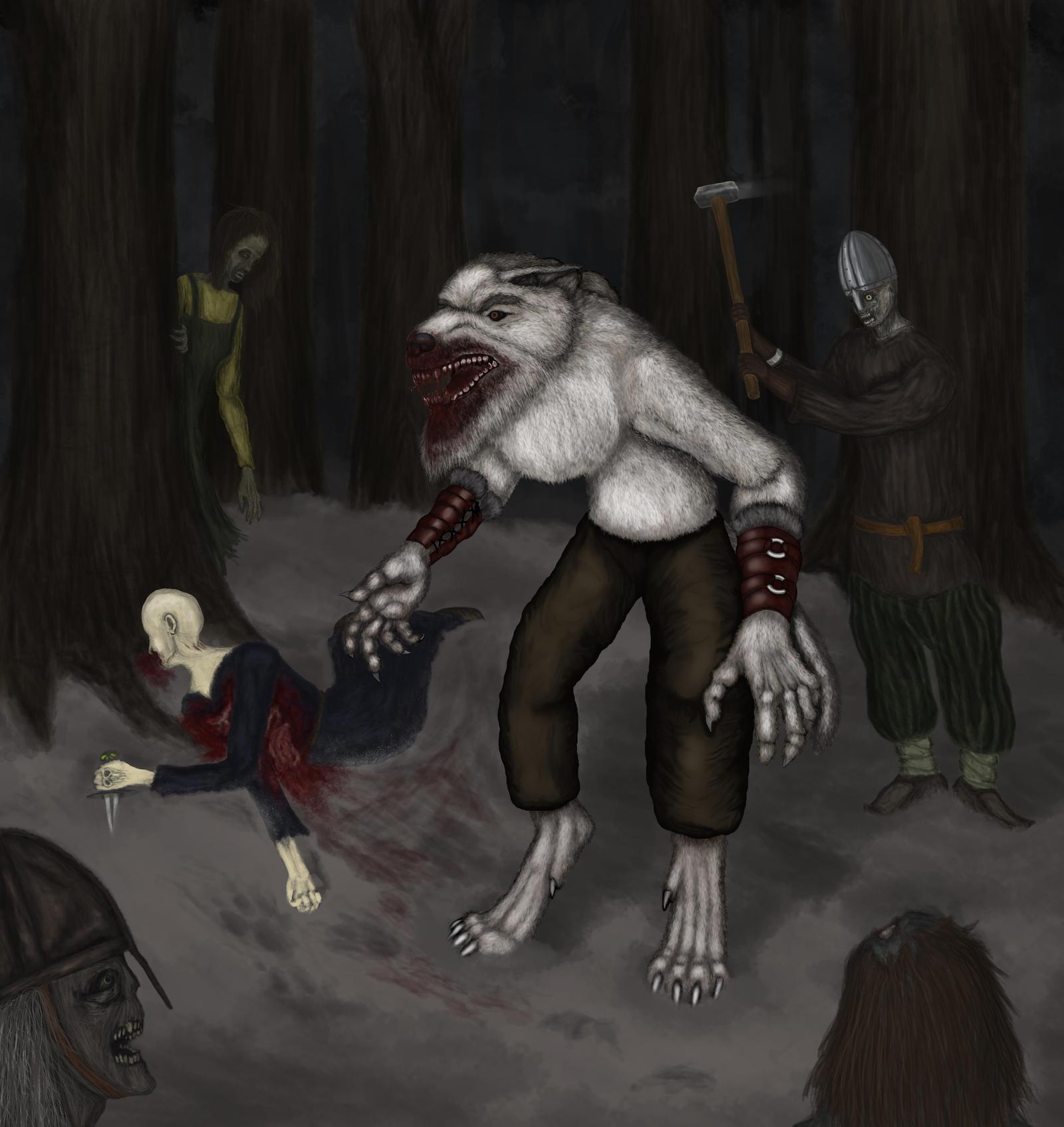 Ljotolfr versus Necromancy by A-Pancake