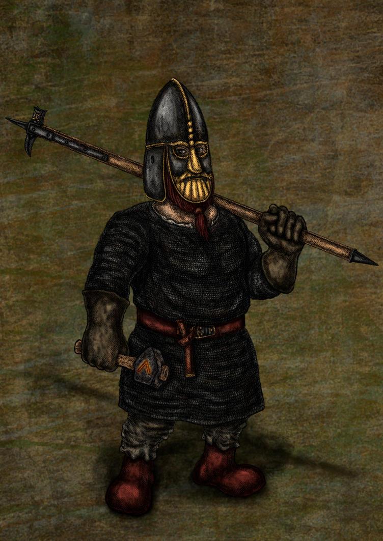 OC: Dwarf Blacksmith by A-Pancake