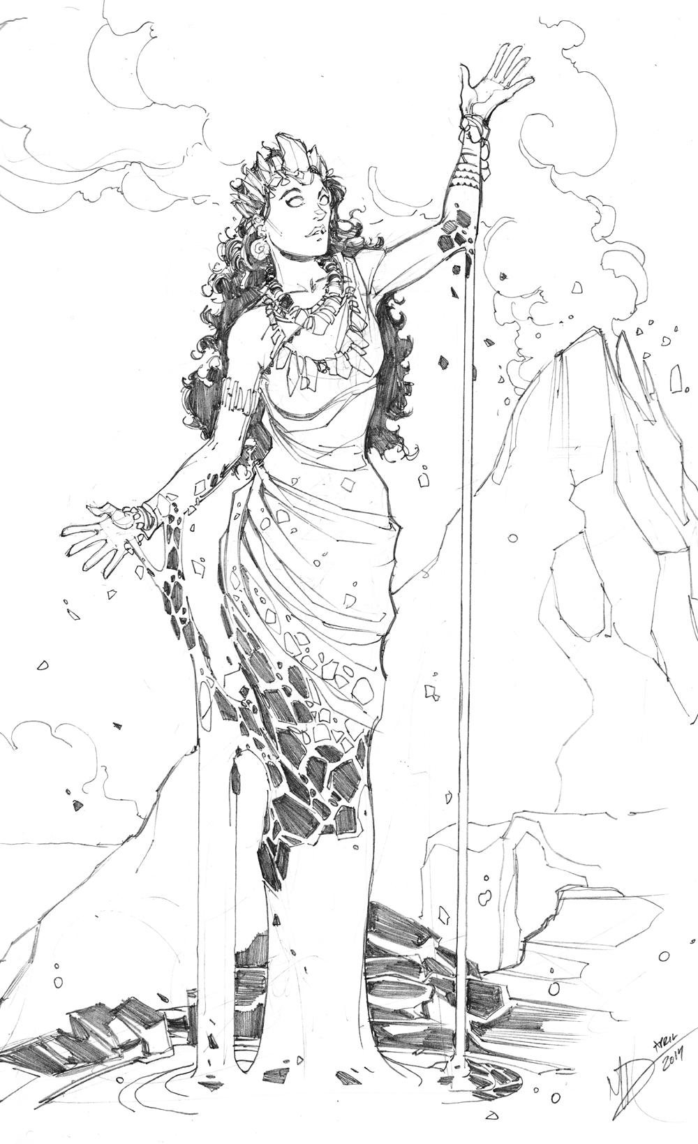 Line Drawing Volcano : Hawaiian goddess of volcanoes by max dunbar on deviantart