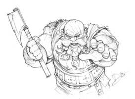 Dwarf Berserker by Max-Dunbar