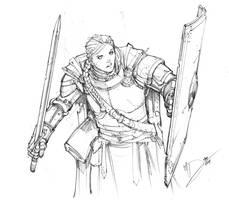 Knight Sketch by Max-Dunbar