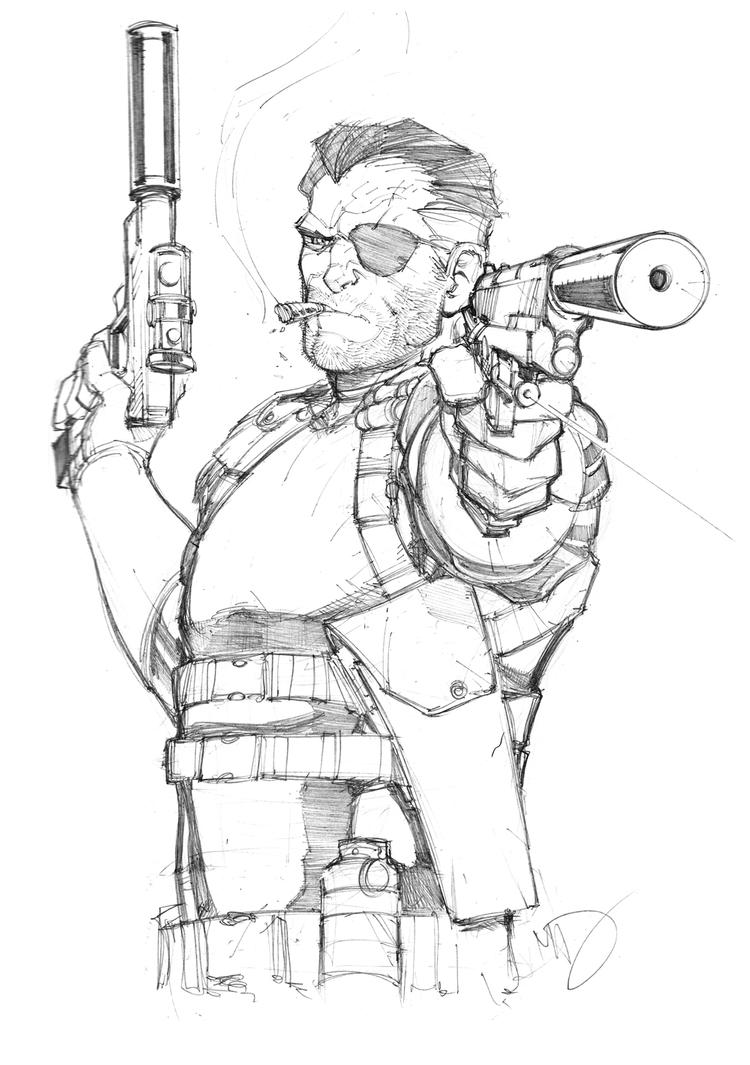 Nick Fury Sketch by Max-Dunbar