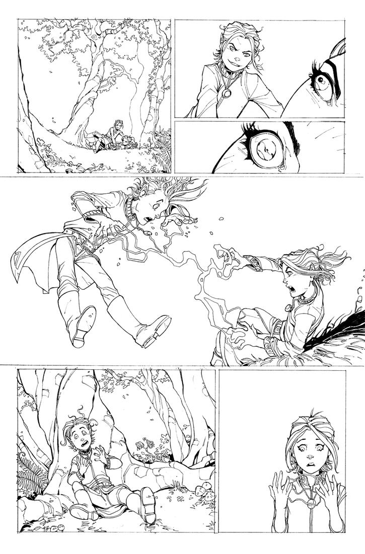 DnD Legends of Baldur's Gate issue 2 Page 3 by Max-Dunbar