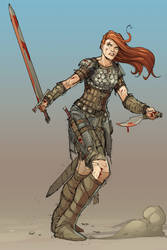 Red Sonja Colours by Max-Dunbar
