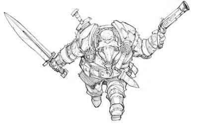 Dwarf Sketch by Max-Dunbar