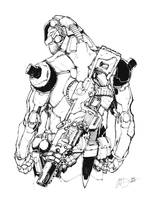 Future Man inked sketch by Max-Dunbar