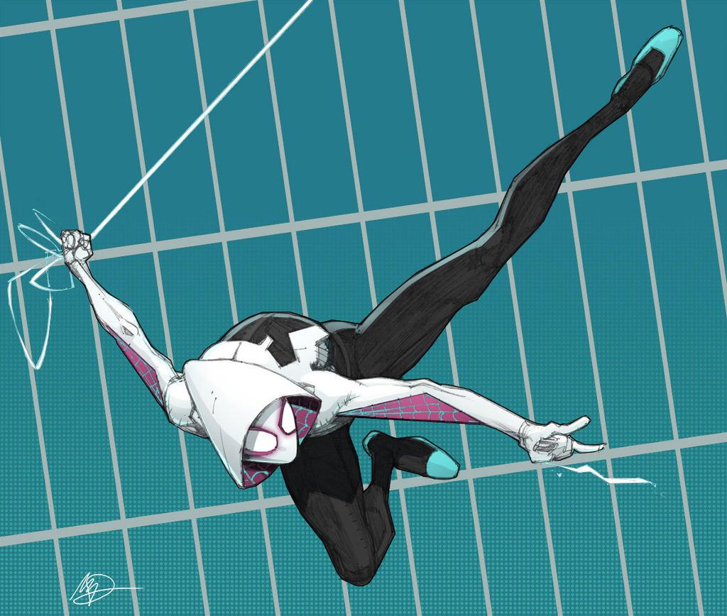 Spider Gwen Coloured