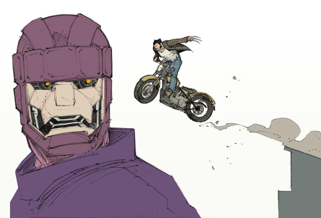 Wolverine Vs. Sentinel by Max-Dunbar