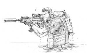 Punisher sketch 2 by Max-Dunbar