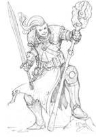 Elf Battle Mage by Max-Dunbar