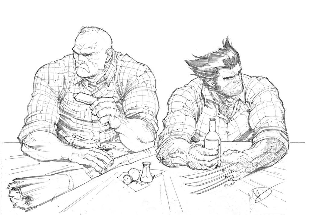 Southern Bastards and Wolverine by Max-Dunbar