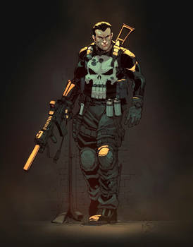 Punisher colored by Yinfaowei