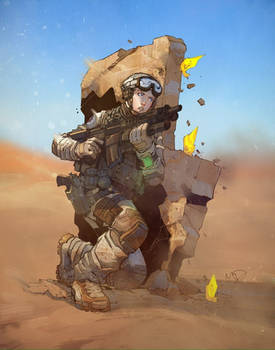Future Soldier colored by Yinfaowei