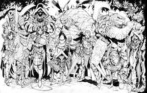 Inktober Evil DnD Party by Max-Dunbar