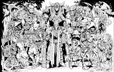 Inktober Evil DnD party part 2 by Max-Dunbar
