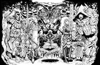 Inktober Evil DnD party part 3 by Max-Dunbar
