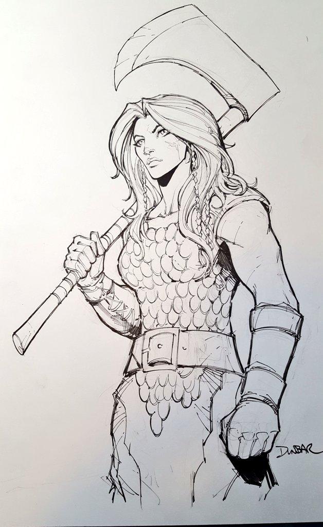 Red Sonja Sketch by Max-Dunbar