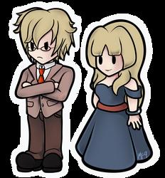 MTMB: Riba and Alice in Paper Mario Style