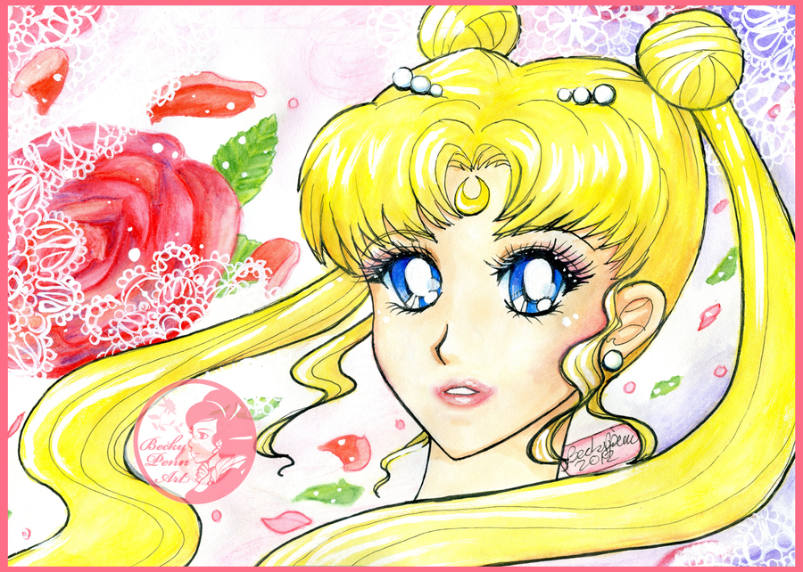 Princess Serenity by BeckyPennArt