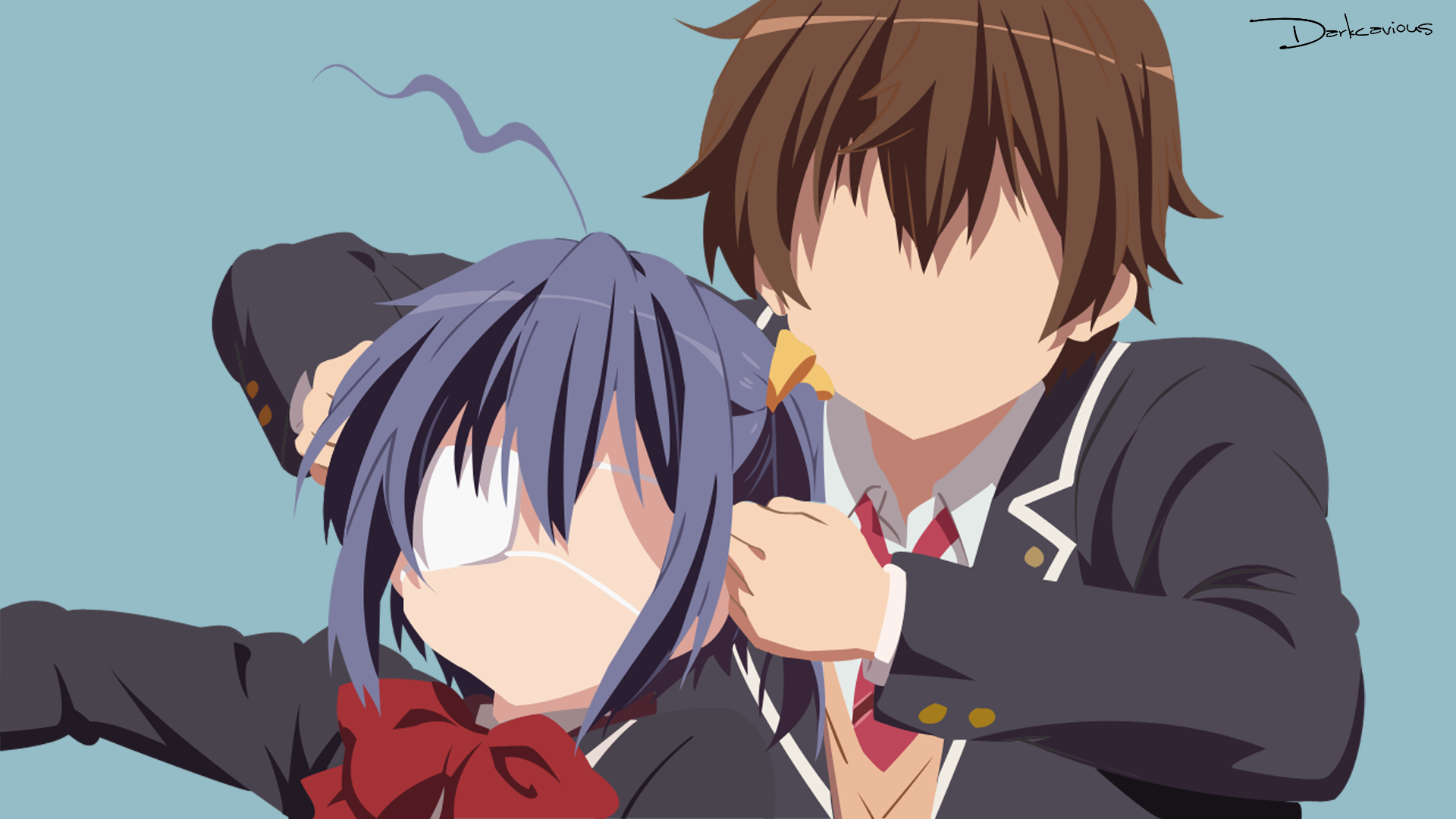 chuunibyou rikka and yuuta wallpapers - photo #29