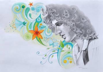 Brian May by NinjaTofuPrincess