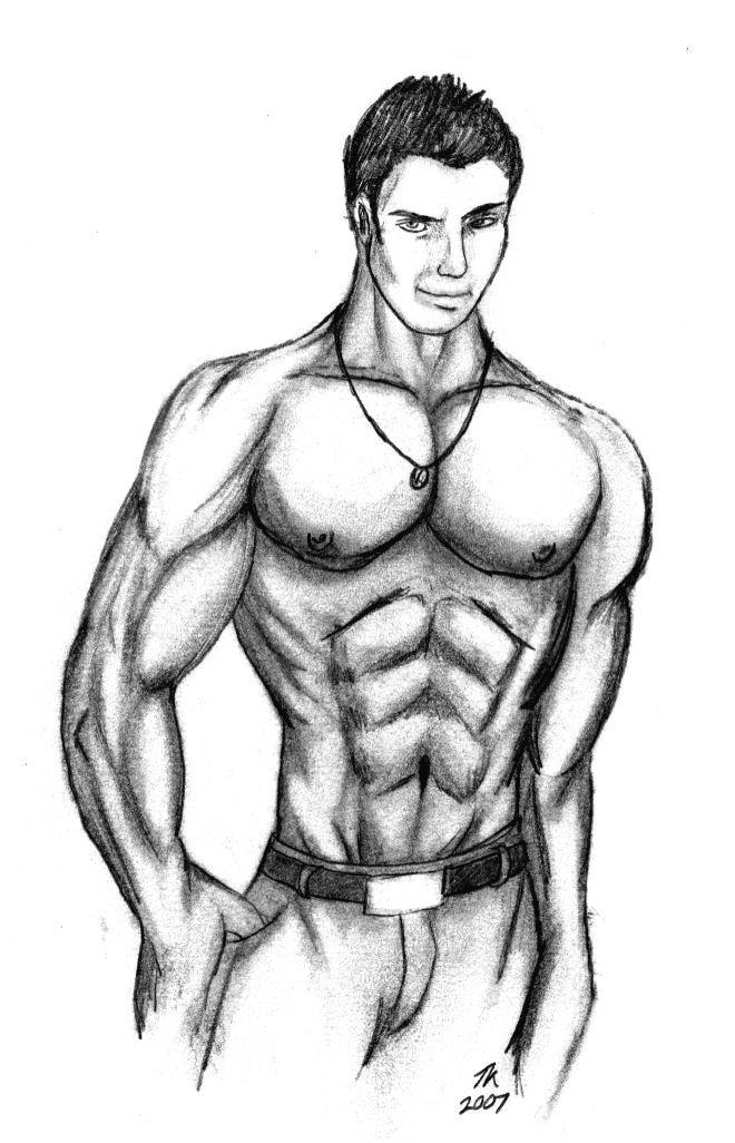 пришла рисунки мускулистых парней значительном