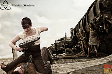 Furiosa and Max Confrontation by BurchRootsStudio