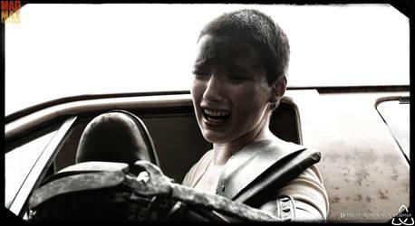 Furiosa losing her grip on Max. by BurchRootsStudio