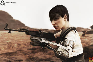 Imperator Furiosa with assault rifle by BurchRootsStudio
