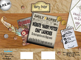 Harry Potter Chat site mockup by greendude34